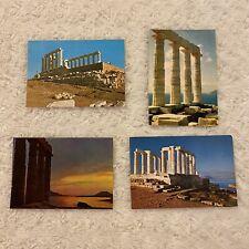 SOUNIO - GREECE : 4 Postcards