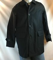 Sperry Outerwear Black Jacket Officer Navy Tech Jacket Men's Size Medium NWT