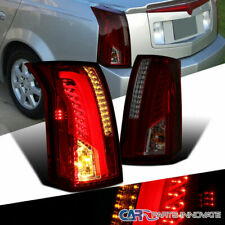For Cadillac 03-07 CTS Red Smoke LED Bar Tail Lights Rear Brake Lamps Left+Right