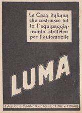 Z3655 Luci e Magneti LUMA - Pubblicità d'epoca - 1928 vintage advertising