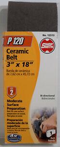 "ShopSmith 3"" x 18"" Ceramic Sanding Belt P120 Grit - 12513 Moderate Surface Prep."