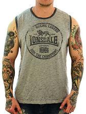 Figurbetonte ärmellose Herren-T-Shirts aus Baumwollmischung mit Motiv