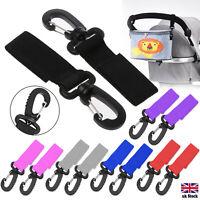 2X Buggy Clips Hooks Pram Clips Changing Bag Holder for Pushchair Stroller CB