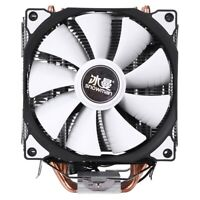 SNOWMAN M-T6 4PIN CPU Cooler Master 6 Heatpipe Double Fans 12cm Cooling FanH4H1