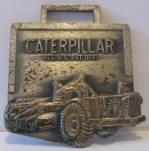 CATERPILLAR Cat DW21 Scraper Earth Mover Pocket Watch Fob NAGLE HART WISCONSIN
