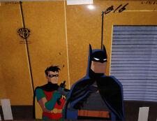 Batman Over Gotham 1970s Cartoon Original Animation Art Cel Original Background Production Art Original Comic Art