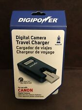DigiPower Camera Travel Charger for Canon Batteries (W/ EU Adapter) TC-55C