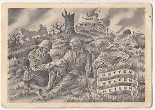 Künstler Feldpost Ak San. Ers.u.Ausb. Abt. 4 Eilenburg 1944 Retten Helfen Heilen