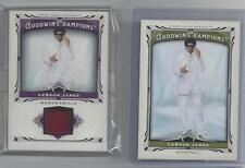 LEBRON JAMES UPPER DECK GOODWIN CHAMPIONS 2013 JERSEY AND BASE CARD