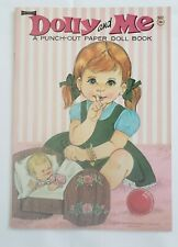 """Vintage Saalfield Artcraft """"Dolly and Me"""" Punch-Out Paper Doll Book, 1969, #4254"""