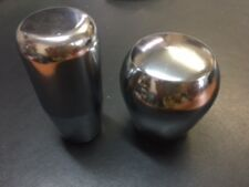 2 X NIVERSAL HEAVY STEEL GEAR SHIFT KNOB M12 X 1.25 mm - CHROME /SHORT + LONG