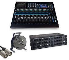 Allen & Heath Chrome Edition Qu-24 Digital Mixer and Audio Rack Bundle