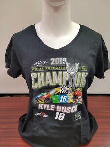 Kyle Busch #18 2019 Championship V-Neck Ladies Nascar Drivers T-Shirt