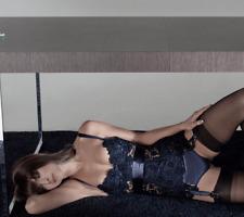 AGENT PROVOCATEUR RARE soiree bleu noir GENE Corset Taille 4 Large UK 12-14 BNWT