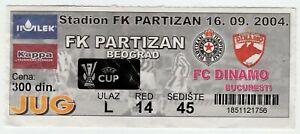 2004, PARTIZAN Serbia v DINAMO BUCHAREST Romania ! UEFA Cup.
