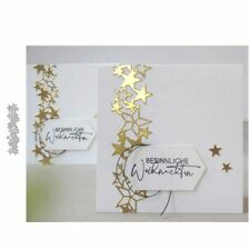 Star Cluster Edge Strip Metal Cutting Dies Scrapbooking Embossing Craft Stencil