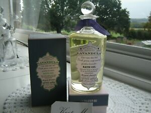 New... Penhaligons Lavandula  Bath Oil 200ml vintage all glass bottle