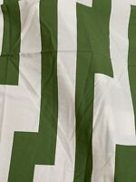 "IKEA of Sweden Fabric Erika Pakkari 2006  Retro 60"" x 18 YDS Green White Graphic"