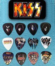 KISS Guitar Pick Tin Includes Set of 12 Guitar Picks