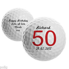 Personalised Birthday Golf Ball Add Age Name Message Gift Idea