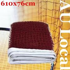 Training Standard Braided Badminton Replacement Net Netting 6.1X0.76m OBNET6176