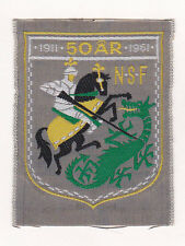 50 Years of SCOUTS OF NORWAY - NSF SCOUTING 1911-61 OFFICIAL SCOUT Patch