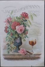 Jacob Hoffman Brewing Co. Advertising Poster, early 1900s, New York