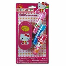 Hello Kitty 3pk Lip Balm with Small Tin on Blister Card