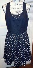 H&M Divided - Skater Swing Dress - Size 12 - Adj Vest - NWOT NEW !!
