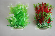 Aquarium Tropical Plastic Plants x 2 Approx 16cm High Suitable for All Aquariums