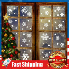 150 Pcs Christmas Decorations Snowflake Window Window Clings Stickers Decals