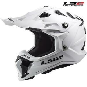 Motorcycle Helmet Cross LS2 MX700 Subverter Evo Solid White 407001002