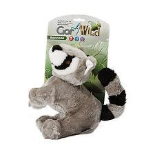 Gor Pets Wild Raccoon Dog Toy | Plush Fur Squeaky Wildlife Stuffed Soft Medium
