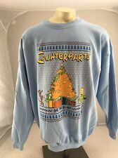 Vintage Simpsons Christmas Sweatshirt Crew Shirt 90s  Quote be The Burn NOS Rare