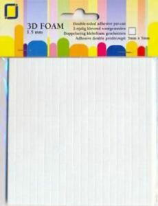 JeJe Double-Sided Foam Squares - 1.5mm x 5mm x 5mm