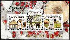 Forestry souvenir sheet of 3 stamps mnh 2016 Namibia elephant trees flowers