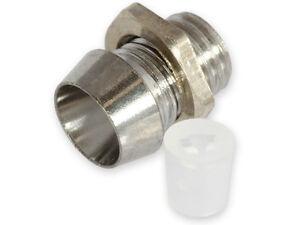 (10 Pcs) 3mm Chrome Metal LED Bezel Holder Panel-Mount... USA SELLER!!!