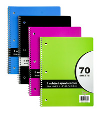 24 Pack Of Spiral 1 Subject Notebook 70 Sheets Wide Ruled 10 12 X 8 12