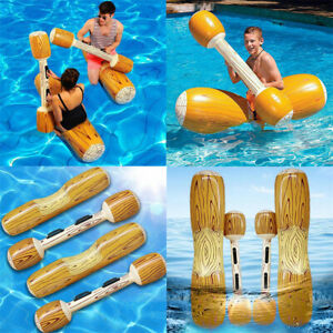 Swimming Pool 4 PCs Inflatable Floats Inflatable Gladiator Joust Toy Game UK