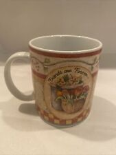 Vintage 2001 Lang And Wise Collector Coffee Mug Flower Basket Friends R Forever