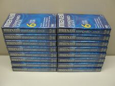 LOT 16 NEW SEALED MAXELL STANDARD GRADE 6 HOURS T-120 BLANK VHS TAPES