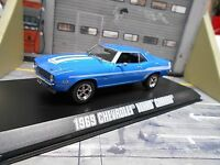 CHEVROLET Camaro 1969 V8 Brian blau blue Fast & Furious Filmauto Greenlight 1:43