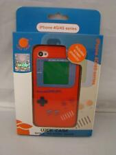 Iphone 4 Silicone Case & Screen Protector GameBoy Series 4G/4S NEW ORANGE