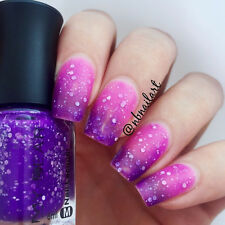 6ml Thermal Color Changing Nail Art Polish Peel Off Varnish With Sequin A027