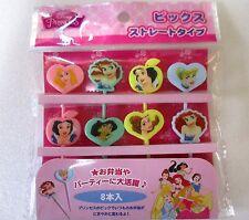 DISNEY Princess Japanese Lunch Box Bento Food  Picks 8pcs  KAWAII!!