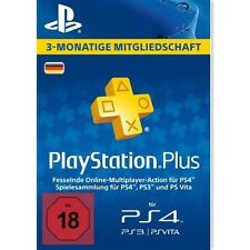 DE Playstation Plus 90 Tage (3 Monate) Karte Card Sony PSN Live Code PS+ Key