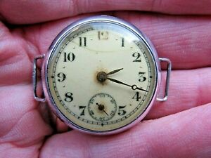 4 Spares -Silver Cased Swiss Made Converted Fob Watch W/Watch-H/M London 1917-18
