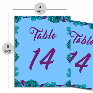 Decorative Paper Table Number Wedding Party Placecard Matte Sheet Evening Party