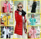 Womens ladies coats winter long Hooded Jackets warm parkas coats outwear padded