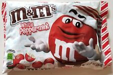NEW CHRISTMAS M&M'S WHITE PEPPERMINT CHOCOLATE CANDIES FREE WORLDWIDE SHIPPING